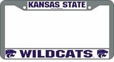 Kansas State Wildcats Chrome License Plate Frame