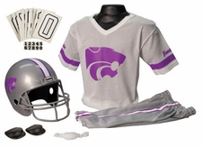 Kansas State Wildcats Deluxe Youth / Kids Football Helmet Uniform Set