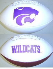 Kansas State Wildcats Full Size Signature Embroidered Foto Football