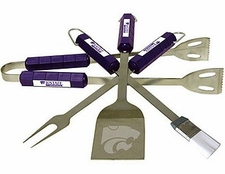 Kansas State Wildcats Grill BBQ Utensil Set