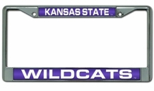 Kansas State Wildcats Laser Cut Chrome License Plate Frame