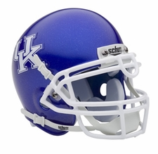 Kentucky Wildcats Blue Schutt Authentic Mini Helmet