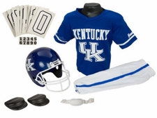 Kentucky Wildcats Deluxe Youth / Kids Football Helmet Uniform Set