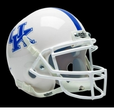 Kentucky Wildcats White Schutt Authentic Mini Helmet