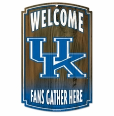Kentucky Wildcats Wood Sign