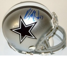 Leon Lett Dallas Cowboys Autographed Mini Helmet