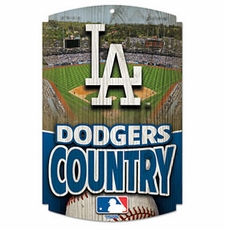 Los Angeles Dodgers Wood Sign
