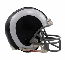 Los Angeles Rams 1965-72 Throwback Replica Mini Helmet