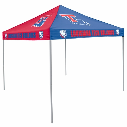 Louisiana Tech Bulldgos Pinwheel Colored Logo Canopy Tailgate Tent