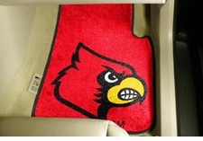 Louisville Cardinals 2-Piece Carpeted Car Mats Front Set