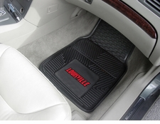 Louisville Cardinals 2-Piece Heavy Duty Vinyl Car Mat Set