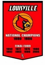 Louisville Cardinals 24 x 36 Basketball Dynasty Wool Banner