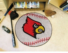 "Louisville Cardinals 27"" Baseball Floor Mat"