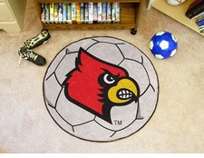 "Louisville Cardinals 27"" Soccer Ball Floor Mat"
