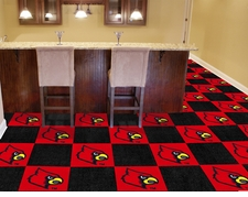 Louisville Cardinals Carpet Tiles - 20 18x18 Square Tiles