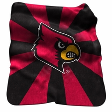 Louisville Cardinals Raschel Throw