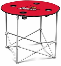 Louisville Cardinals Round Tailgate Table