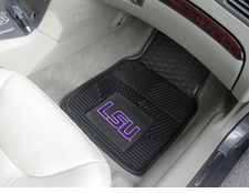 LSU Tigers 2-Piece Heavy Duty Vinyl Car Mat Set