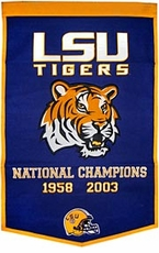 LSU Tigers 2004 24 x 36 Dynasty Wool Banner