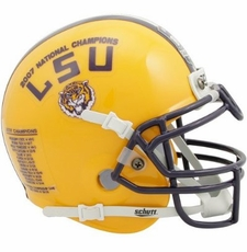 LSU Tigers 2007 National Champion Schutt Mini Helmet
