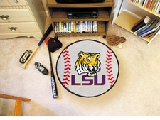 "LSU Tigers 27"" Baseball Floor Mat"