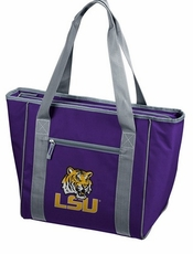 LSU Tigers 30 Can Cooler Tote