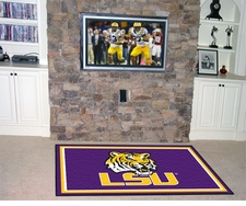 LSU Tigers 5'x8' Floor Rug