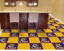 LSU Tigers Carpet Tiles - 20 18x18 Square Tiles