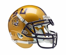 LSU Tigers Gold Alternate Schutt XP Authentic Helmet
