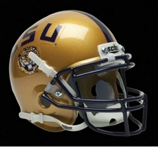 LSU Tigers Gold Schutt Authentic Mini Helmet