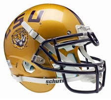 LSU Tigers Gold Schutt XP Full Size Replica Helmet