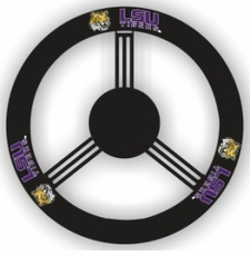 LSU Tigers Leather Steering Wheel Cover