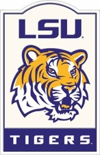 LSU Tigers Nostalgic Metal Sign
