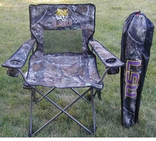 LSU Tigers Realtree Camo Mesh Chair