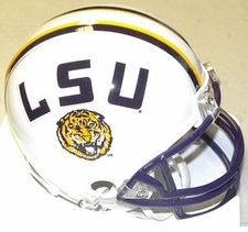 LSU Tigers White Riddell Replica Mini Helmet