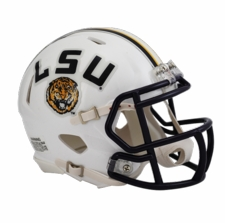 LSU Tigers White Riddell Speed Mini Helmet