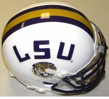 LSU Tigers White Schutt XP Authentic Mini Helmet