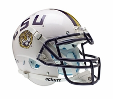 LSU Tigers White Schutt XP Full Size Replica Helmet