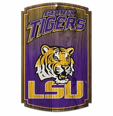 LSU Tigers Wood Sign