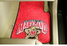 Maryland Terrapins 2-Piece Carpeted Car Mats Front Set
