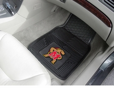 Maryland Terrapins 2-Piece Heavy Duty Vinyl Car Mat Set