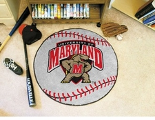 "Maryland Terrapins 27"" Baseball Floor Mat"