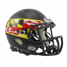 Maryland Terrapins Black w/ Flag Riddell Speed Mini Helmet