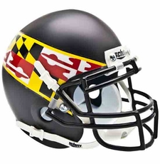 Maryland Terrapins Black w/ Flag Schutt Authentic Mini Helmet