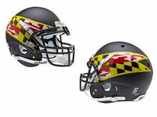 Maryland Terrapins Black w/ Flag Schutt XP Authentic Helmet