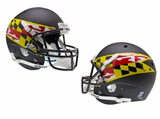 Maryland Terrapins Black w/ Flag Schutt XP Full Size Replica Helmet