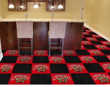 Maryland Terrapins Carpet Tiles - 20 18x18 Square Tiles