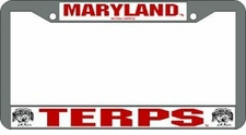 Maryland Terrapins Chrome License Plate Frame