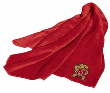 Maryland Terrapins Fleece Throw (Red)