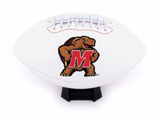 Maryland Terrapins Full Size Signature Embroidered Football